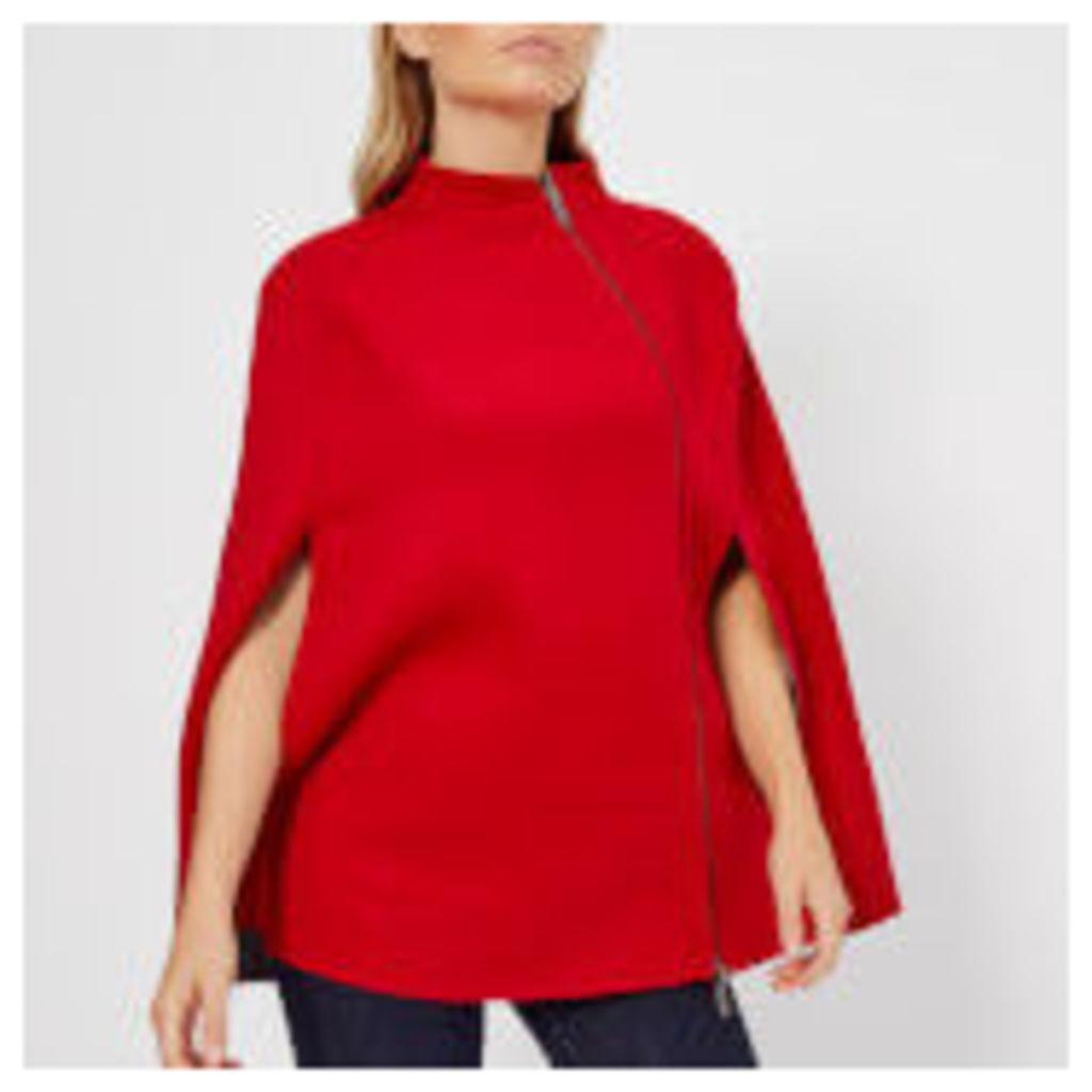 Armani Exchange Women's Cabin Coat with Zip - Bloody Mary