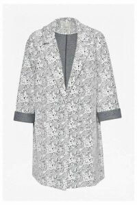 Trellis Jacquard Coat