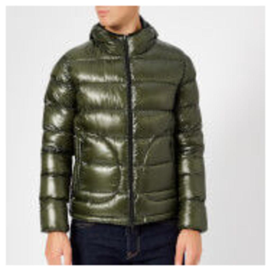 Herno Men's 7 Den Reversible Hooded Bomber Jacket - Black/Green