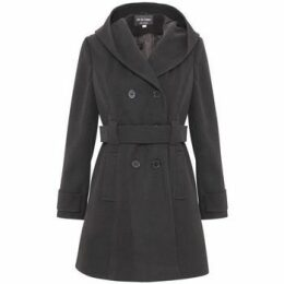 De La Creme  Winter Hooded Coat  women's Parka in Grey