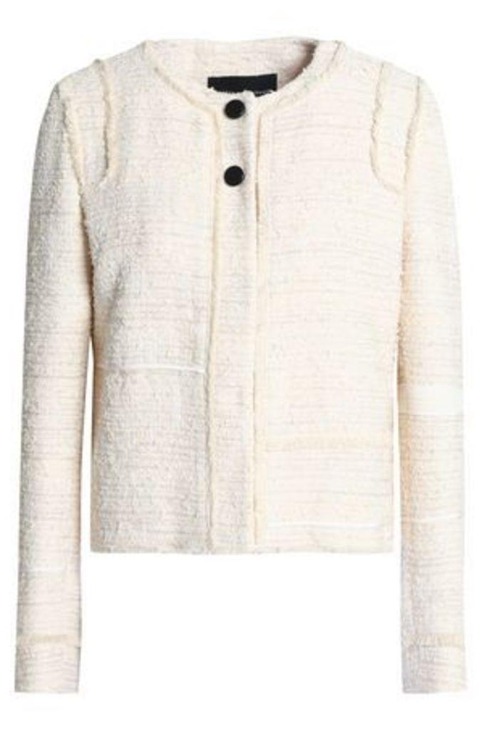 Proenza Schouler Woman Cotton-blend Bouclé-tweed Jacket Ecru Size 4