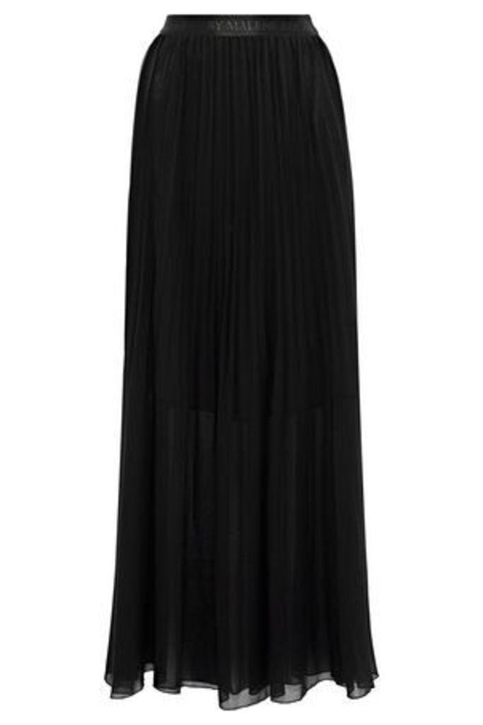 By Malene Birger Woman Lallah Pleated Chiffon Maxi Skirt Black Size 38