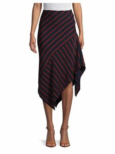 Asymmetric Striped Skirt