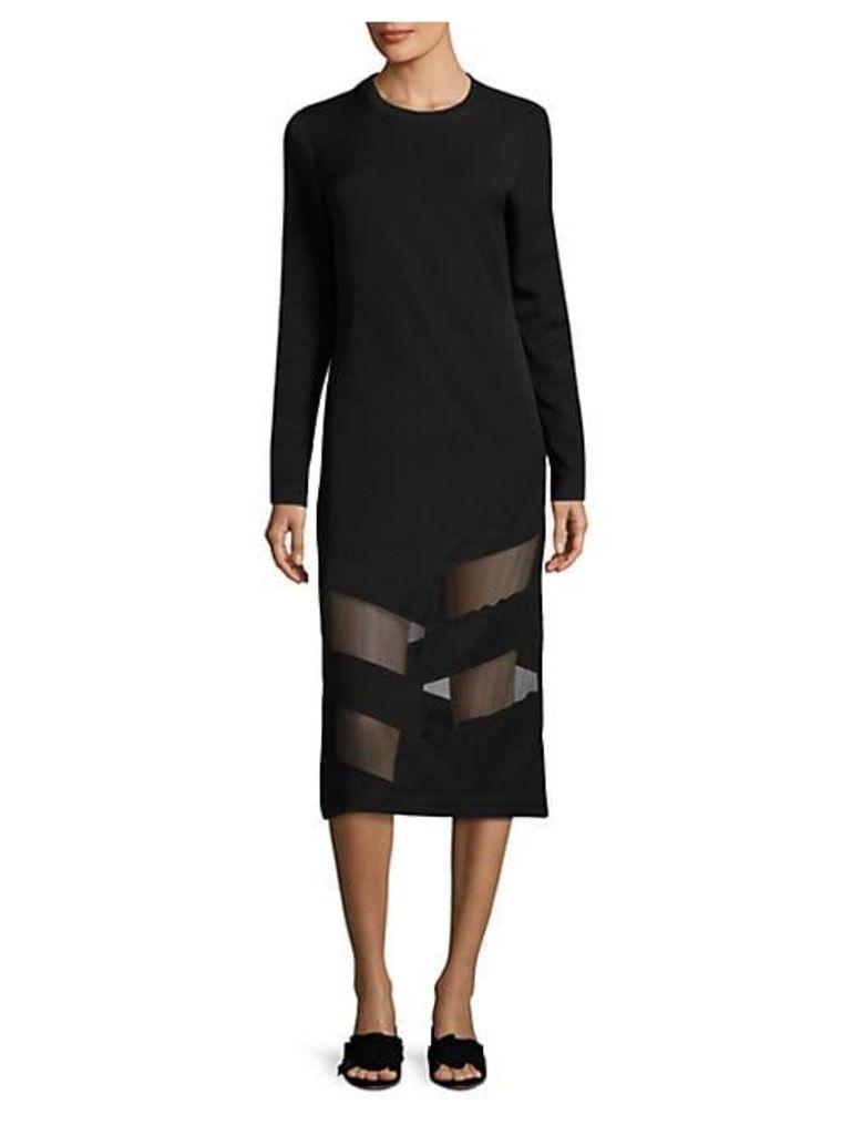 Elsi Sheer Paneled Dress
