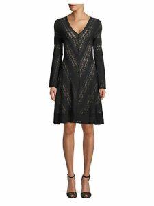 Lace Knee-Length Dress