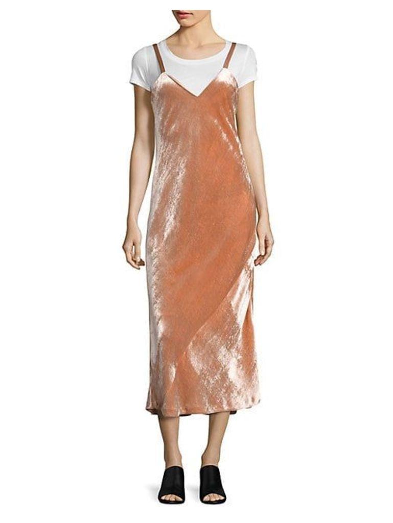 Annex Velvet Midi Dress