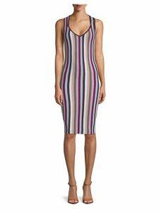 Ariella Striped Bodycon Dress