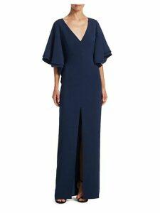 Flounce Bell-Sleeve Gown