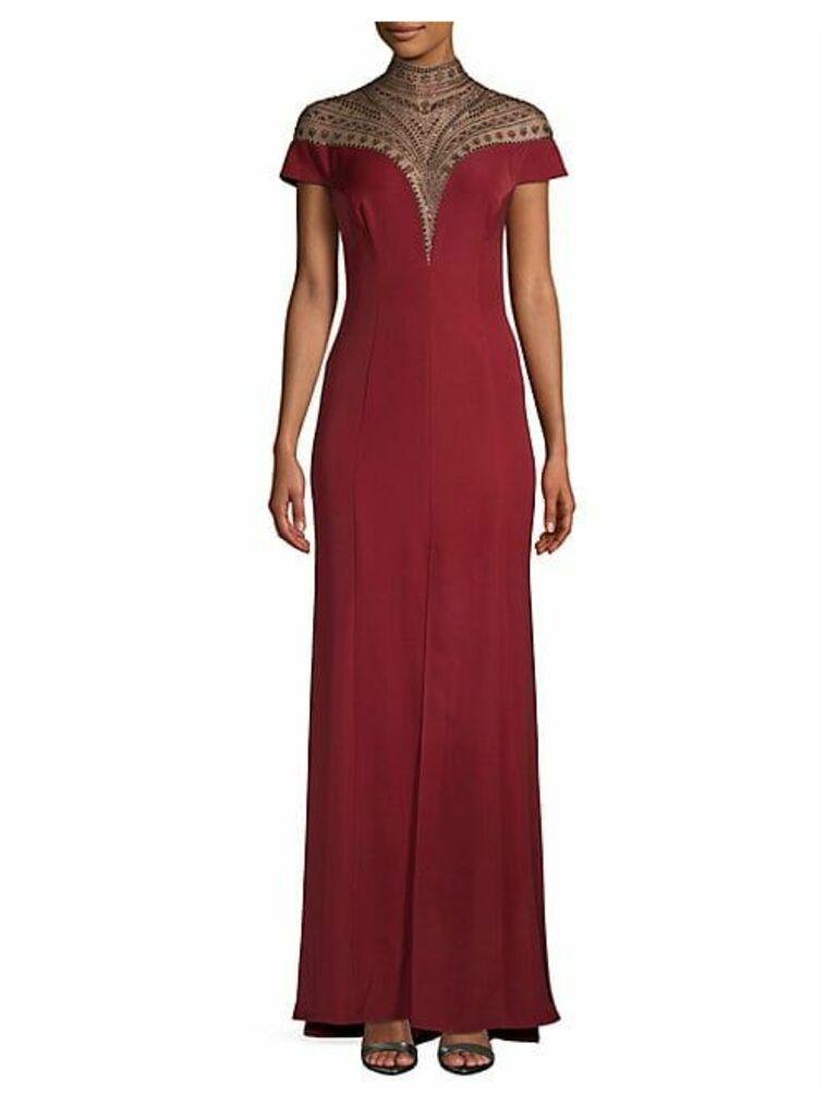 Embellished Yoke Gown