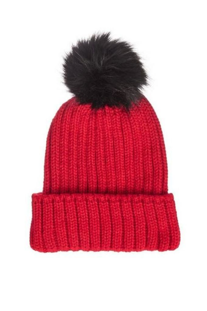 Quiz Red Knit Pom Hat