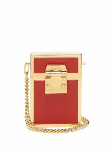 Mark Cross - Nicole Leather And Gold Plated Cross Body Bag - Womens - Red