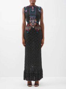 Christian Louboutin - Loubiclutch Glitter Jacquard Bag - Womens - Black Multi