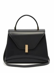 Valextra - Iside Medium Leather Bag - Womens - Dark Grey