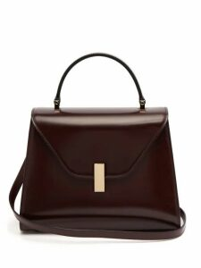 Valextra - Iside Medium Leather Bag - Womens - Burgundy