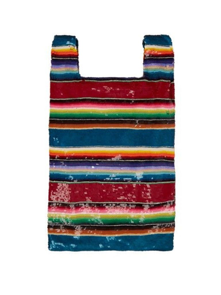 Ashish - Striped Sequined Bag - Womens - Multi