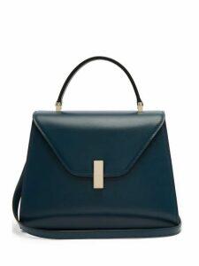 Valextra - Iside Medium Leather Bag - Womens - Blue