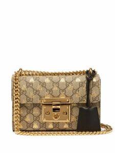 Gucci - Padlock Gg Supreme Small Cross Body Bag - Womens - Black Multi