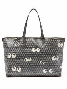 Fendi - Kan I Stripe Small Leather Cross Body Bag - Womens - Navy Multi