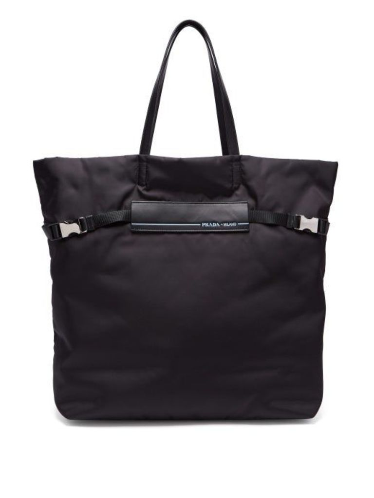 Prada - Logo Patch Nylon Tote Bag - Womens - Black