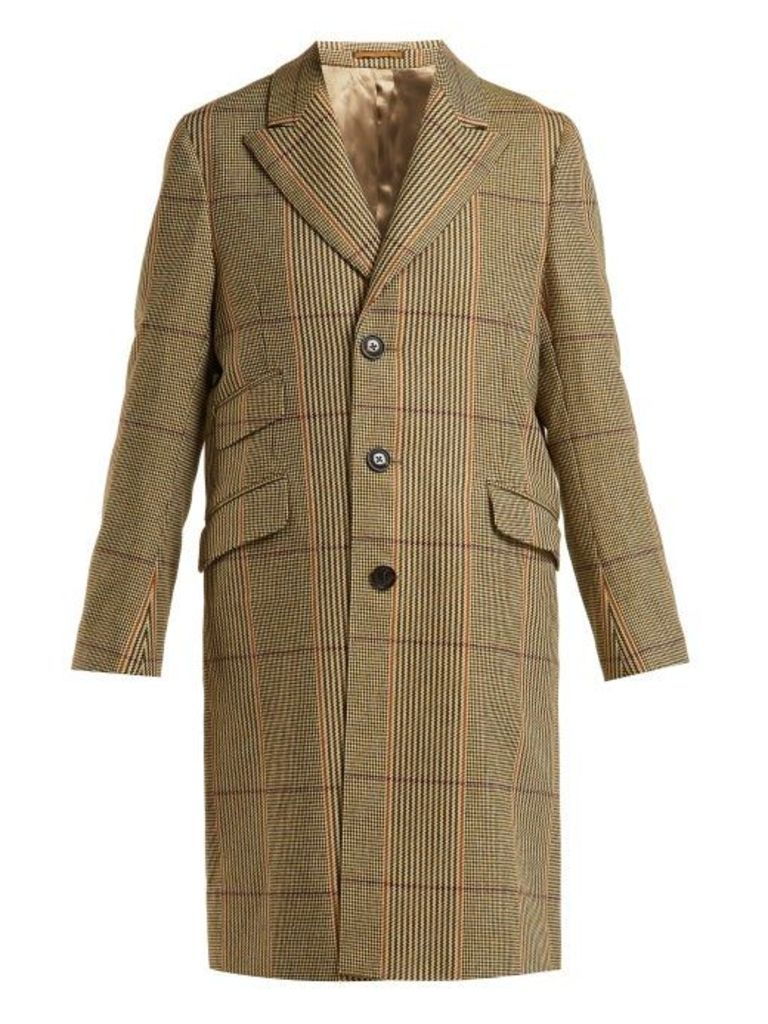 Holiday Boileau - Checked Wool Coat - Womens - Brown
