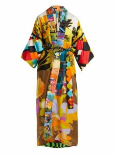 Rianna + Nina - Vintage Patchwork Silk Kimono Style Coat - Womens - Multi