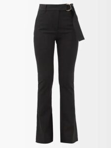 Stella Mccartney - Lace Up Cashmere Blend Sweater - Womens - Navy