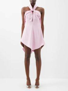 Gabriela Hearst - Lisa Plaid Wool Blend Trousers - Womens - Pink Multi