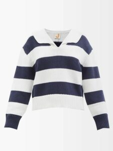 The Attico - Ruched Polka Dot Organza Mini Dress - Womens - Black Multi