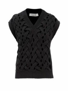 Jw Anderson - Striped Asymmetric Panel Silk Dress - Womens - Black Multi