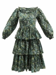 Kilometre Paris - Rue Du Bac Embroidered Denim Tunic - Womens - Blue Multi