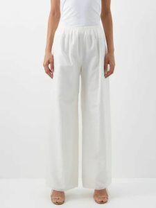 Marques'almeida - Loop Decorated Asymmetric Draped Skirt - Womens - Black Pink