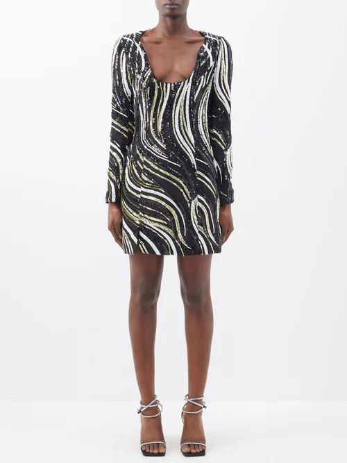 Balenciaga - Tweed Pencil Skirt - Womens - Brown Multi
