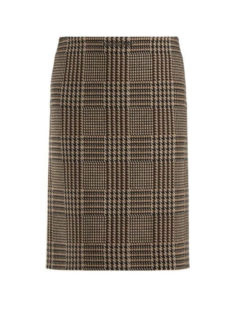 Balenciaga - Tweed Pencil Skirt - Womens - Brown Multi