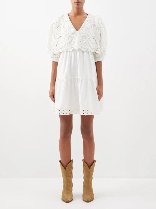 Innika Choo - Gingham Cotton Skirt - Womens - Black Print