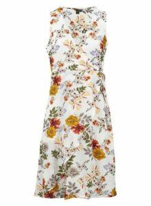 Womens *Izabel London White Floral Print Wrap Dress- White, White