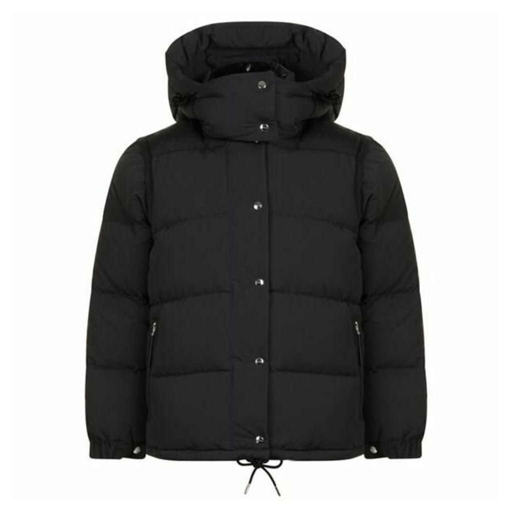 BURBERRY Plymton Detachable Sleeve Coat