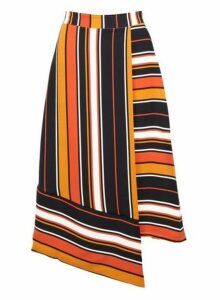 Womens *Izabel London Orange Asymmetric A-Line Skirt- Orange, Orange