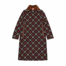 GG diamond wool cape coat