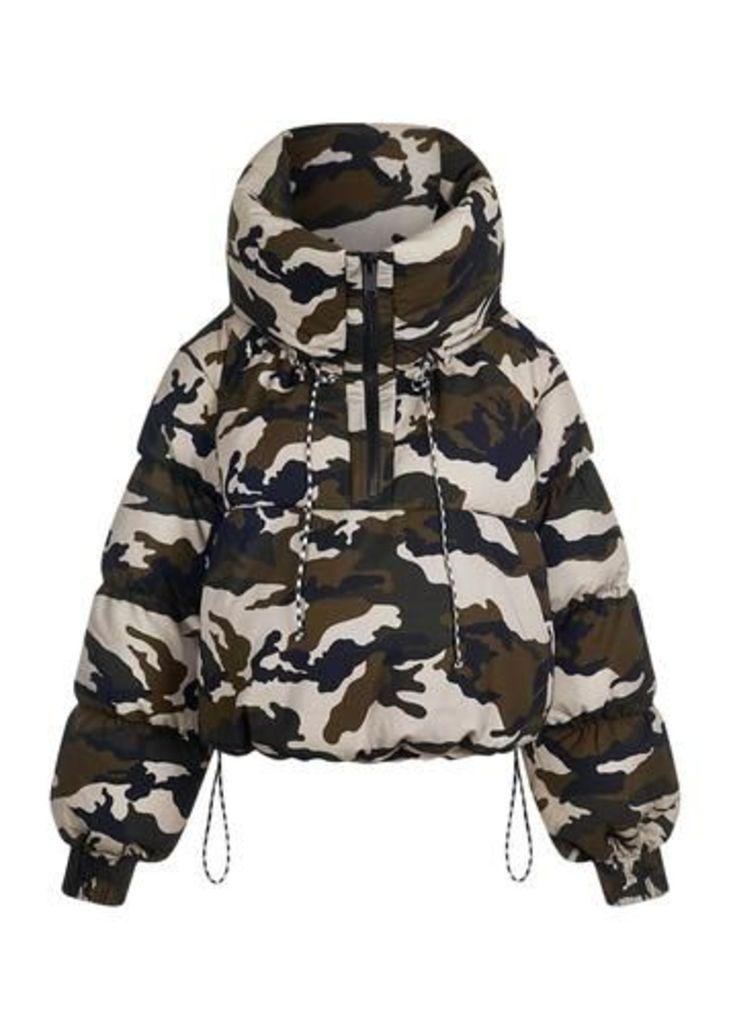 Camoflage Puffa Jacket