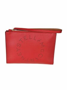 Stella McCartney Logo PU Clutch
