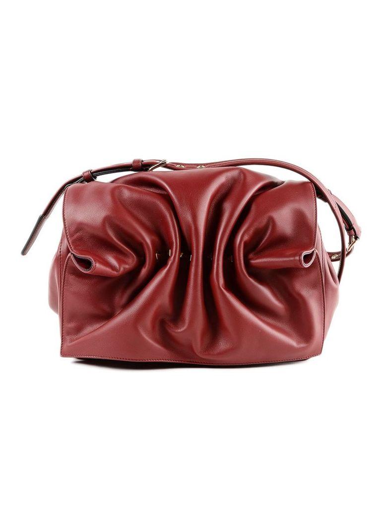 Valentino Garavani Bloomy Medium Ruched Shoulder Bag