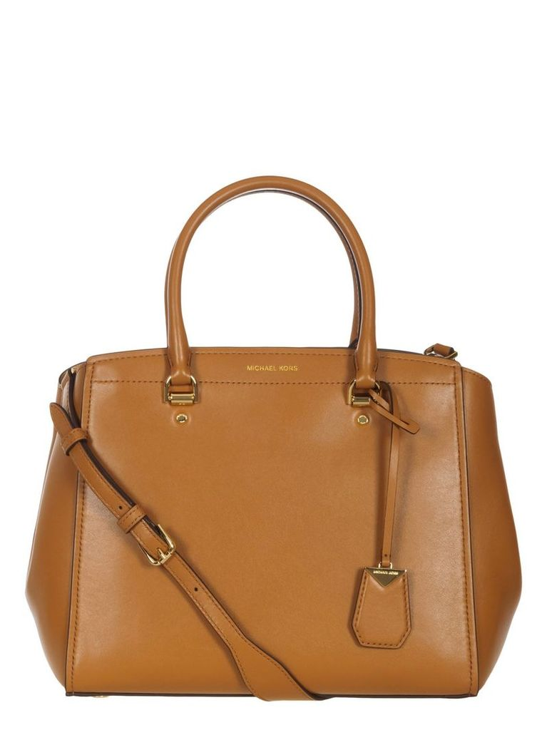 Michael Kors Leather Bowling Bag