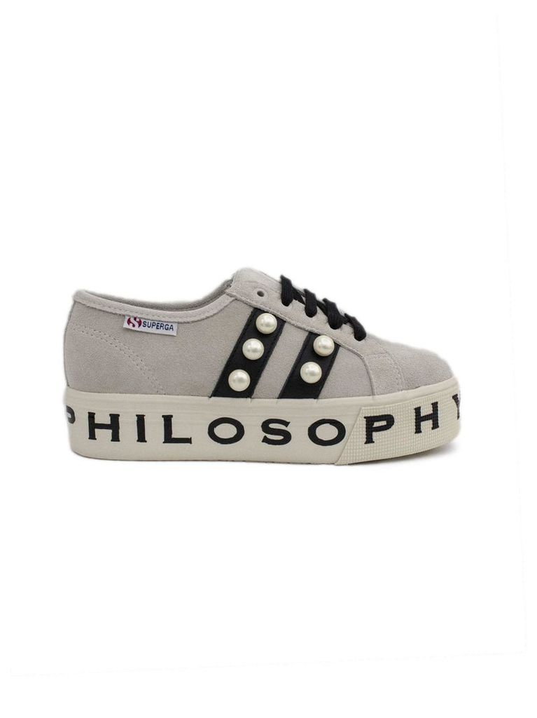 Philosophy di Lorenzo Serafini Superga Sneaker By Philosophy In Ivory Suede.