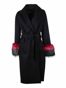 Ermanno Scervino Fringed Cuffs Coat