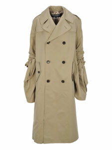 Junya Watanabe Junya Watanabe - Gathered Sleeved Trench Coat