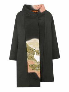 Ibrigu Egret Print Overcoat