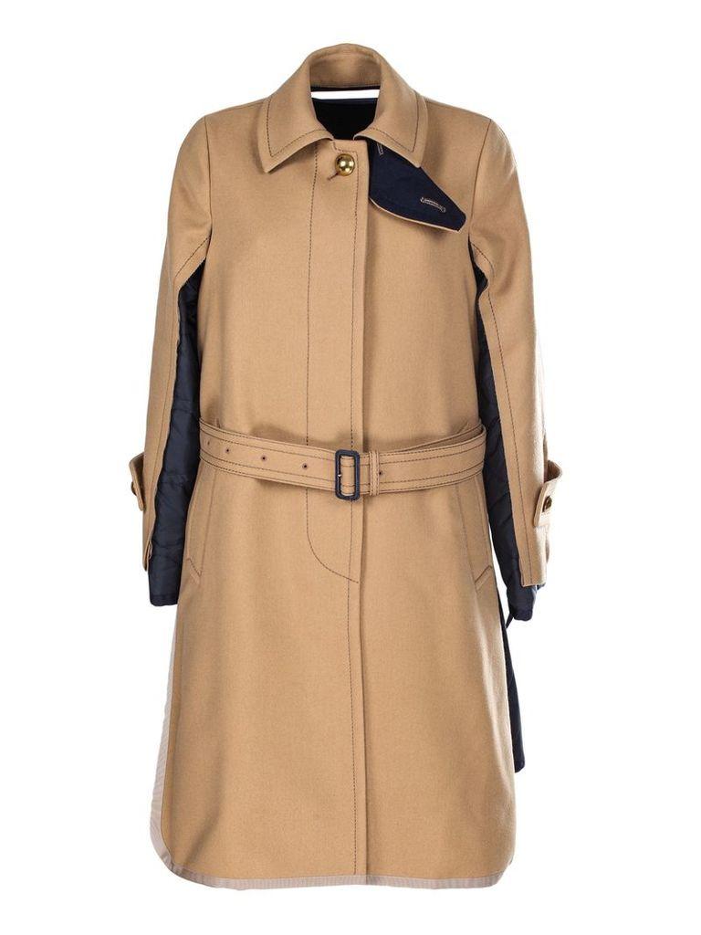 Sacai Hybrid Belted Coat
