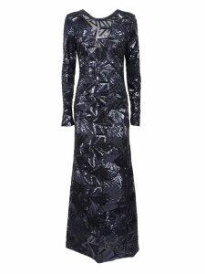 Parosh Sequin Flared Maxi Dress