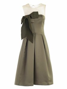 Parosh Bow Detail Midi Dress