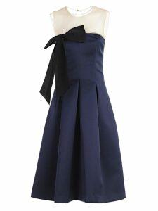 Parosh Bow Detail Midi Dress